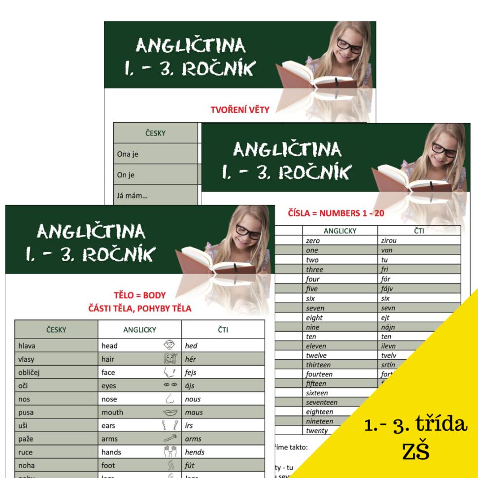 angličtina 1. - 3 . třída